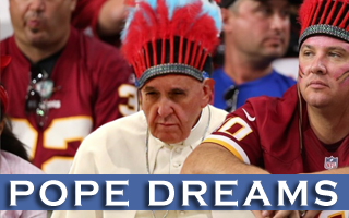 Pope Falls Short of Goal to See All 30 NFL Teams